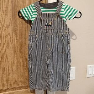Mixed brands lot, overalls and 2 shirts